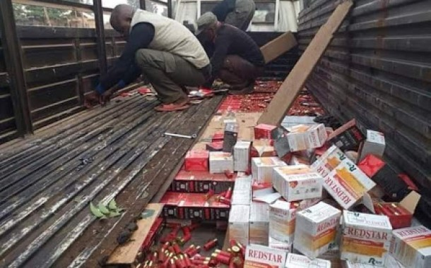 Truck Load Of Ammunition Intercepted By Officers (Photos)