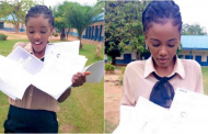 Very brilliant Nigerian lady poses with 10 admission letters she got from foreign universities