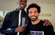 Paul Pogba hangs out with African best footballer Mohamed Salah