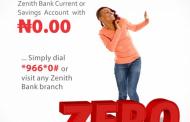 Everyone can open a Zenith Bank Zero account [WATCH VIDEO]