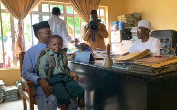 El-Rufai enrolls his 6-year old son in a public primary school (Photos)