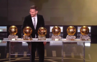 Messi wins sixth Ballon d'Or awards