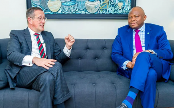 CNN Top Anchor, Richard Quest Visits Fidelity Bank In Lagos