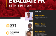 PR and Measurement experts to share thoughts at the 15th Edition of #EvaluatePR.