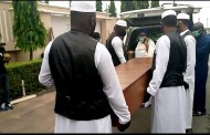 Ex- Oyo Gov. Ajimobi buried amid tight security (Photos)